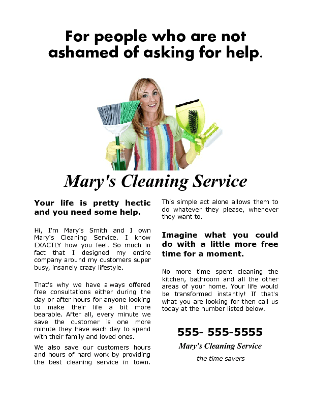 flyers for cleaning houses