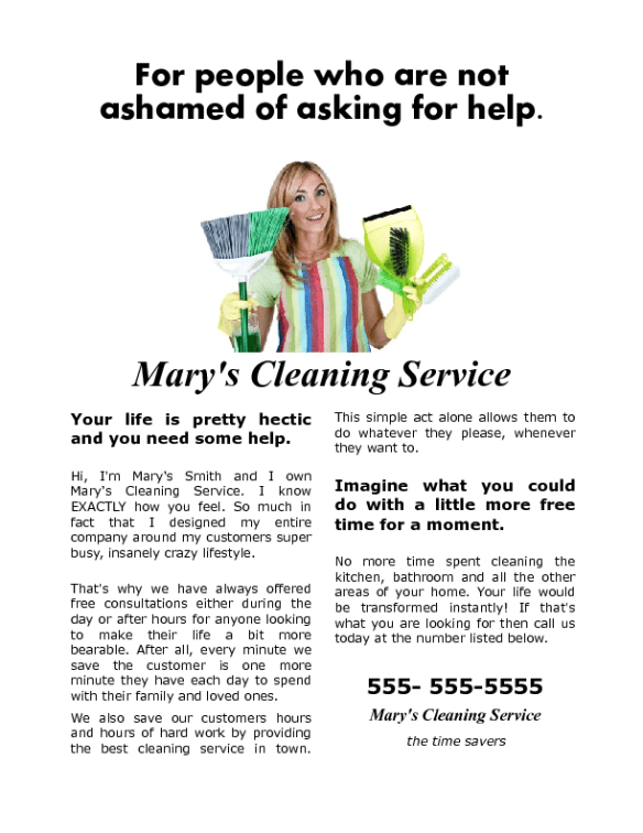 a house cleaning flyer that gets results