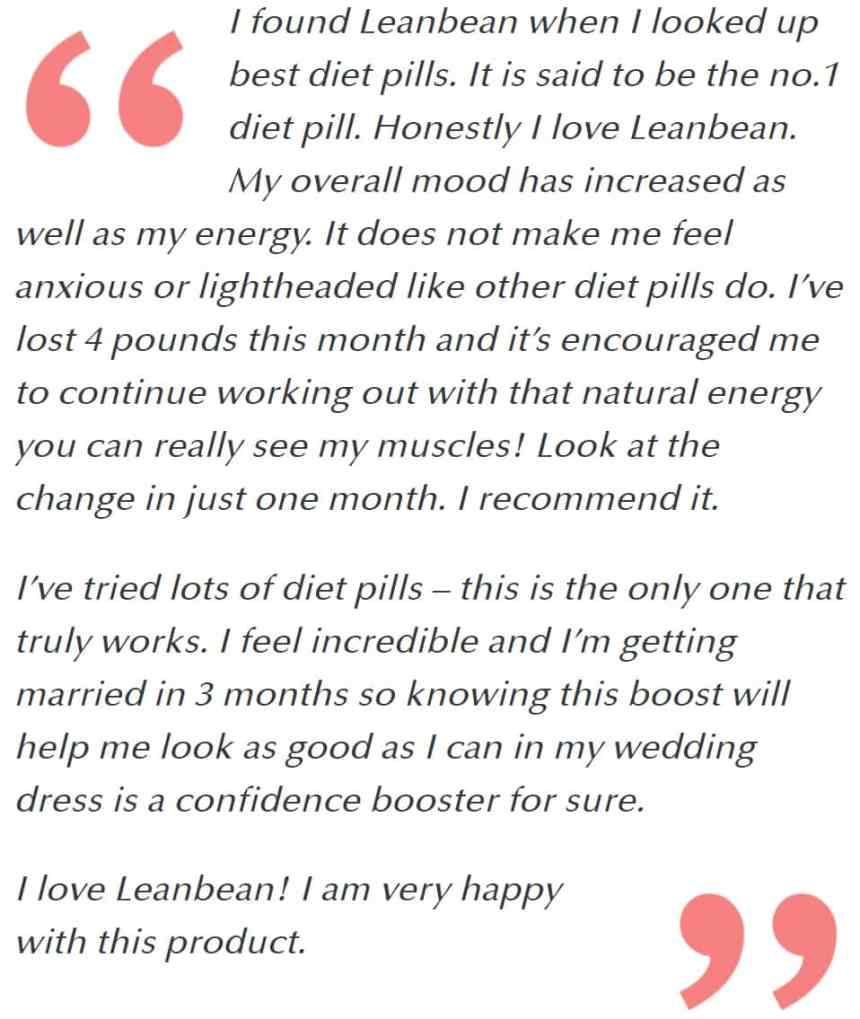 Leanbean review testimonials USA
