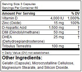 Blade Nutrition test booster 1.0 ingredients review