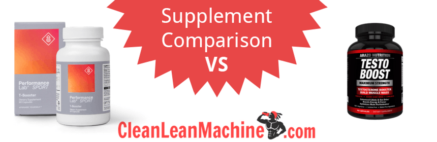 Performance Lab Sport T-Booster vs Arazo Nutrition Testo Boost