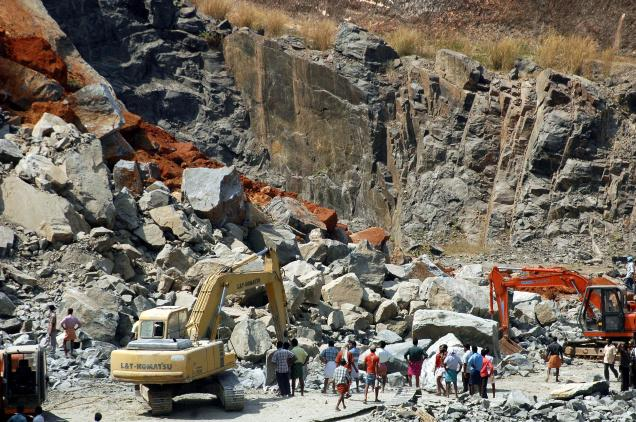 Illegal quarries severely damage hills and mountains
