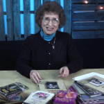 Norma Jean with her books