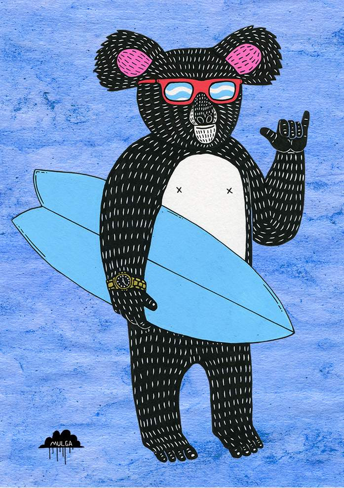 surfer koala