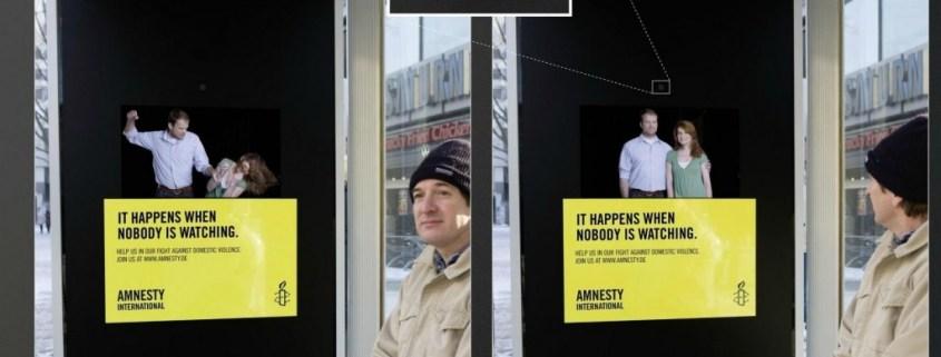 interactieve poster Amnesty