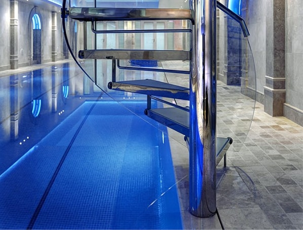 Basemen Swimming Pool With Spiral Staircase Clear Water Revival | Spiral Staircase To Basement | Rustic | Do It Yourself Diy | Log Cabin | Hidden | Stairway