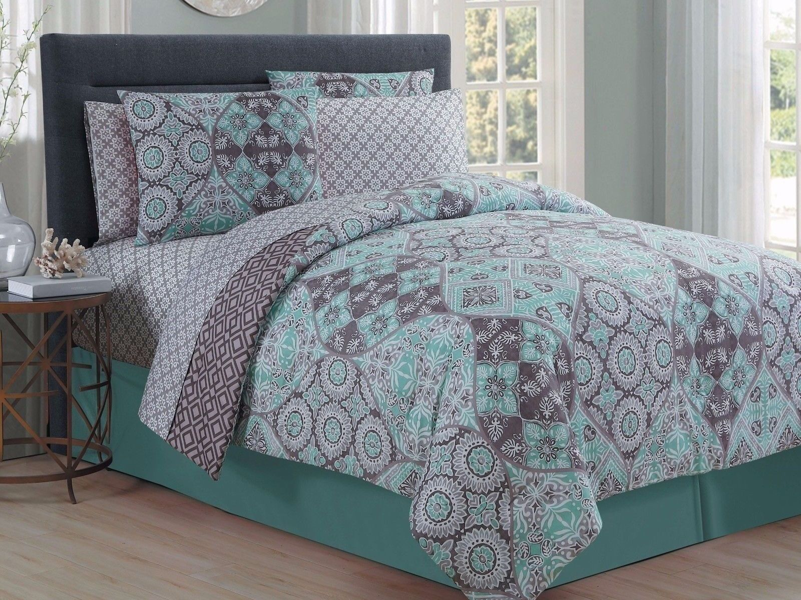 on bedding coastal regarding green chic mist with bedroom set aqua comforter seafoam mint antigua fine