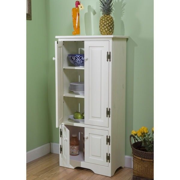 white wooden pantry cabinet kitchen storage organizer tall cupboard food shelves - the clearance