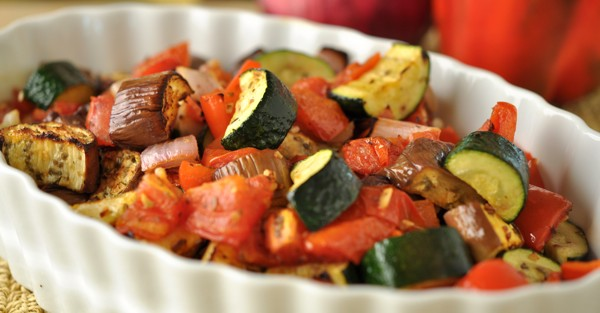 roasted eggplant ratatouille sidedish