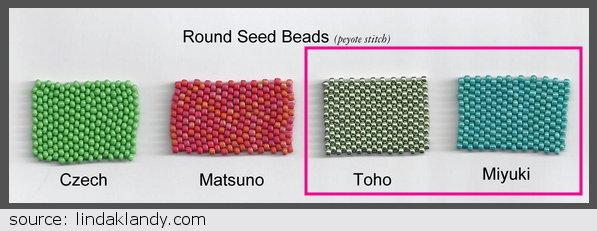 Miyuki vs Toho seed beads
