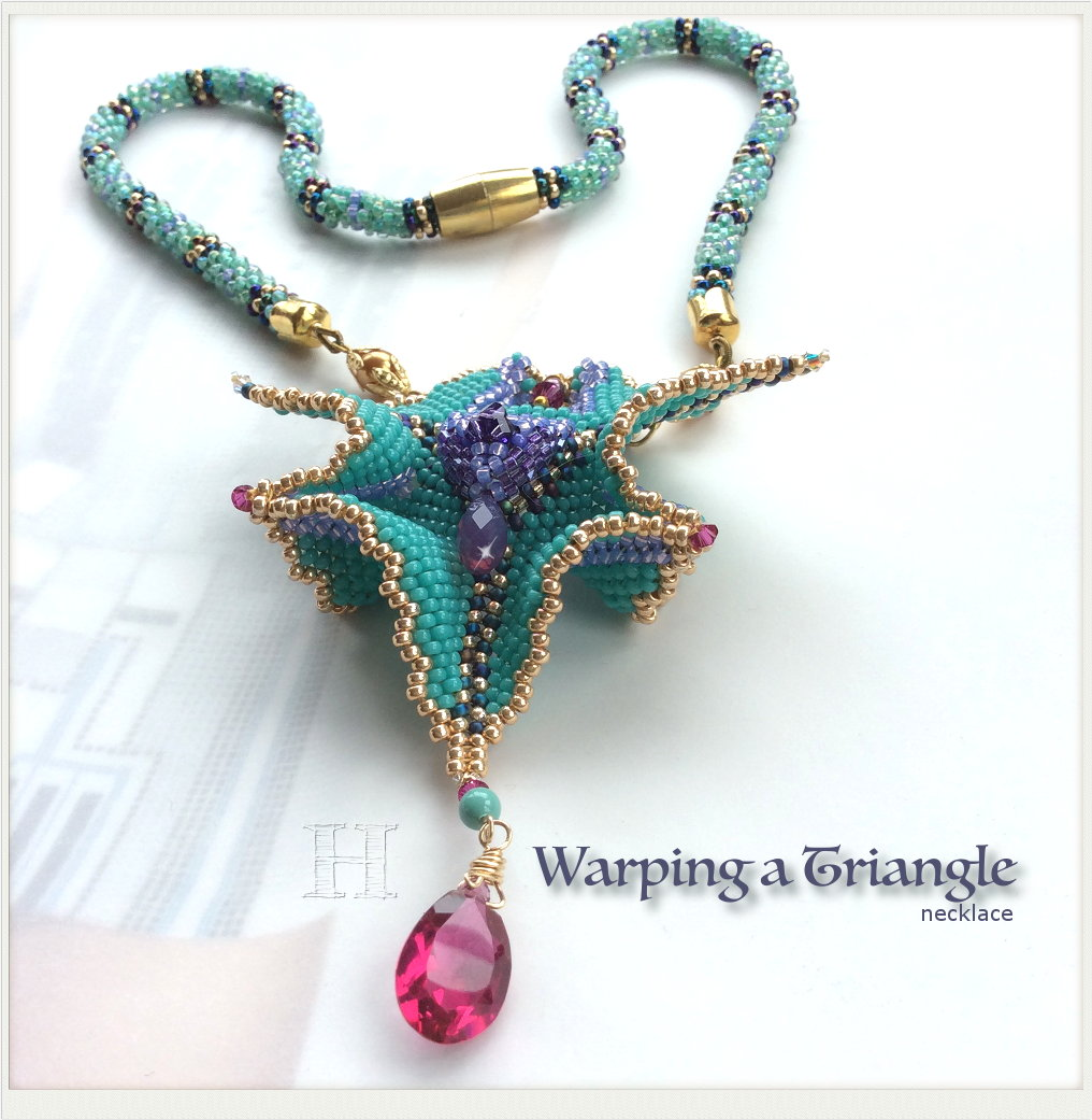 Geometric Beadwork: Warped Beaded Triangle
