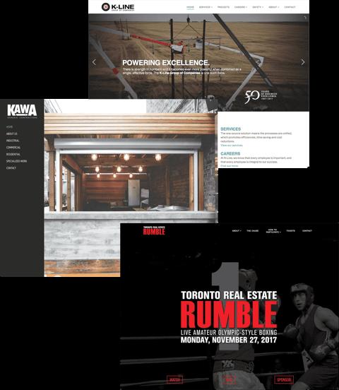 Web Design Samples - 3 websites