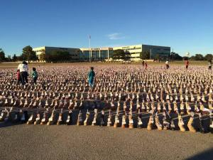 Fort Hood has put a boot on the ground for every American life lost in Iraq and Afghanistan. A powerful memorial.