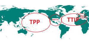 Stitching together the Chess Pieces TPP, NAFTA, TPIP and the EU