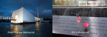 Pearl Harbor and 9/11 Memorials