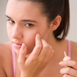 Commercial products for pimples