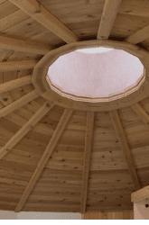 Meditation Hall Cedar Plank Ceiling