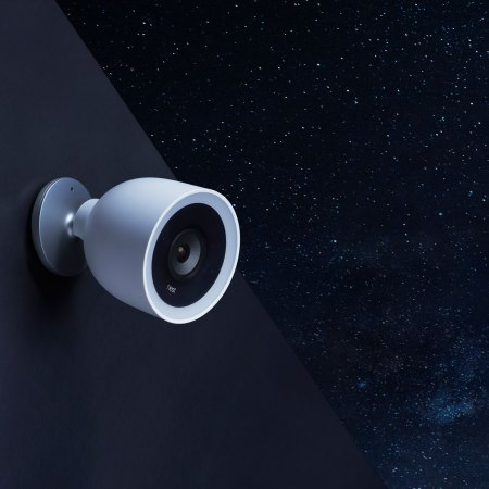 nest cam iq outdoor security camera - night