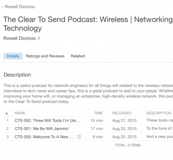 Podcast is now live on iTunes