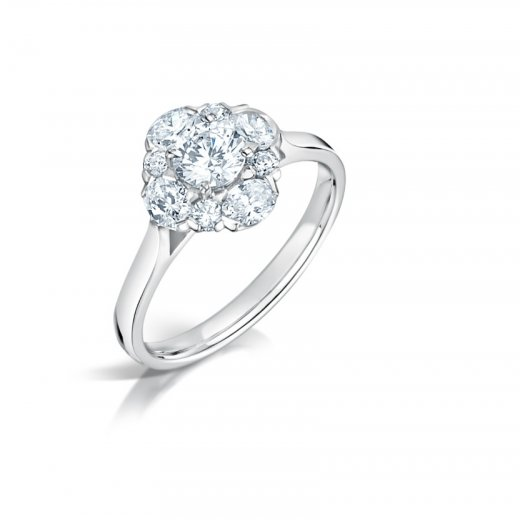 Oval Amp Round Diamond Cluster Ring Clearwater Diamonds
