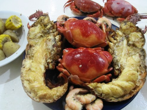 Cooked Crab and Shrimp