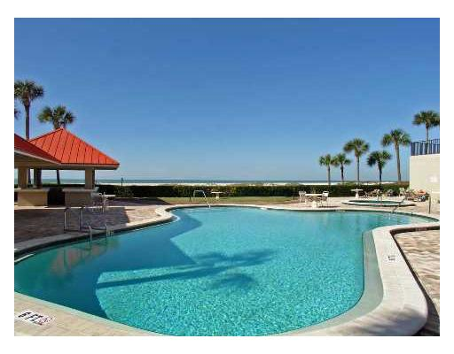 Pool at Clearwater Beach condos for sale