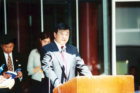 Master Li Speaks at Chicago Ceremony