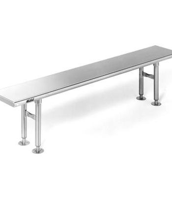 Solid Seat Top Stainless Steel Gowning Bench