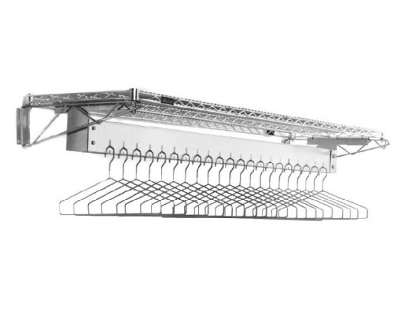 Wall Mounted Gowning Rack, Removable Hangers