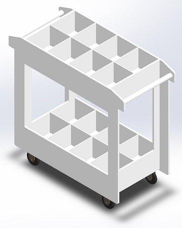 Polypropylene Chemical Carts