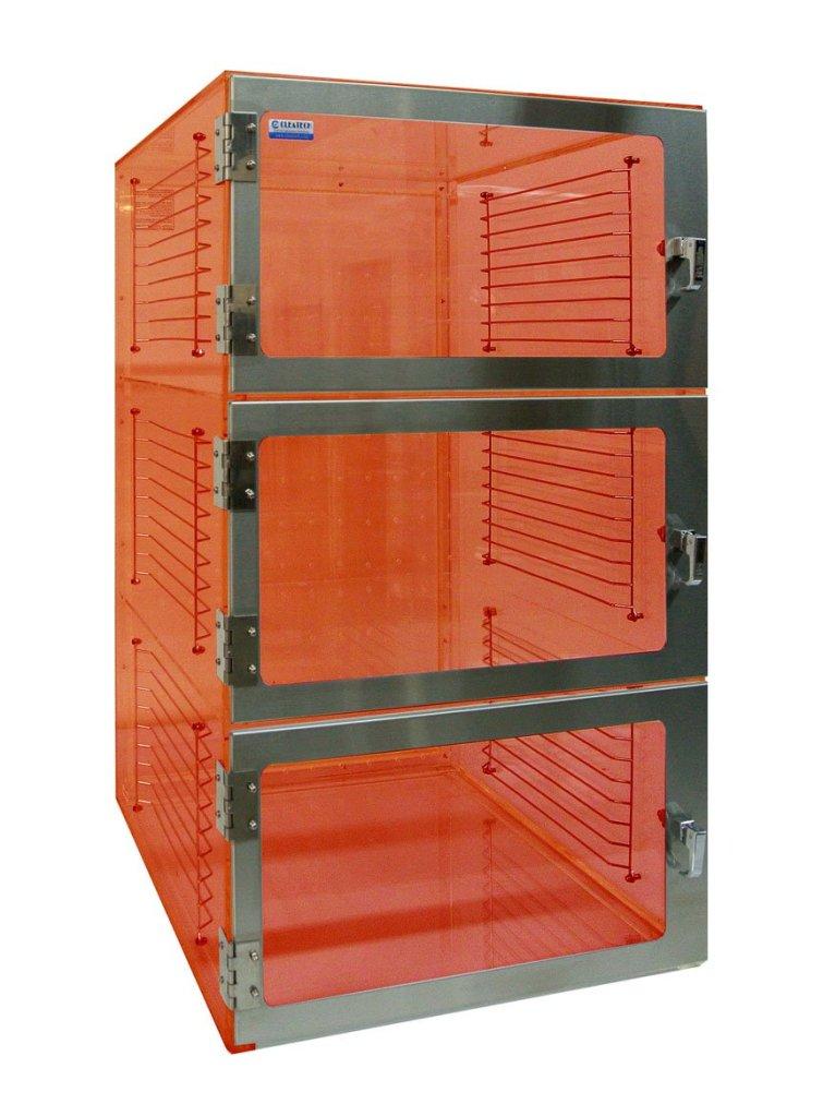 three door desiccator cabinet uv amber acrylic 24x18x48. Black Bedroom Furniture Sets. Home Design Ideas