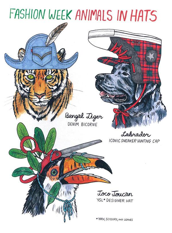 Hanawalt-Fashion-Week-Hat-Animals1