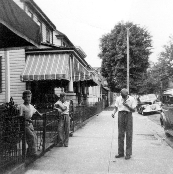 Boys on a street in probably Pottstown, no date.