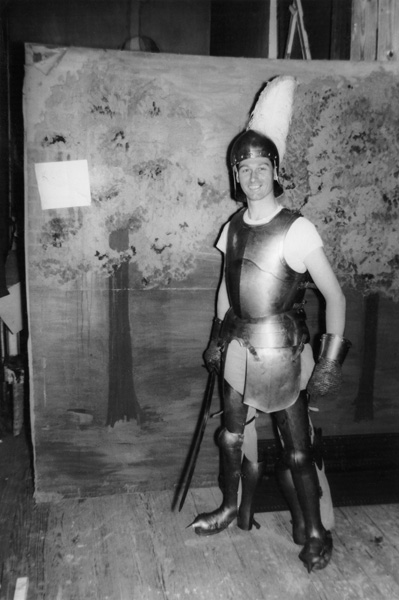 My father dressed as a knight? Pottstown, late 1940s.