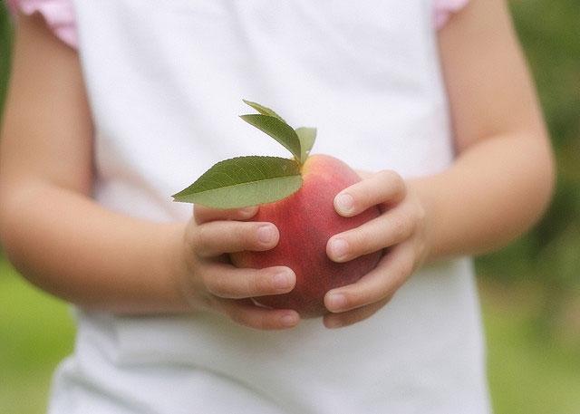 peach-juice-coated