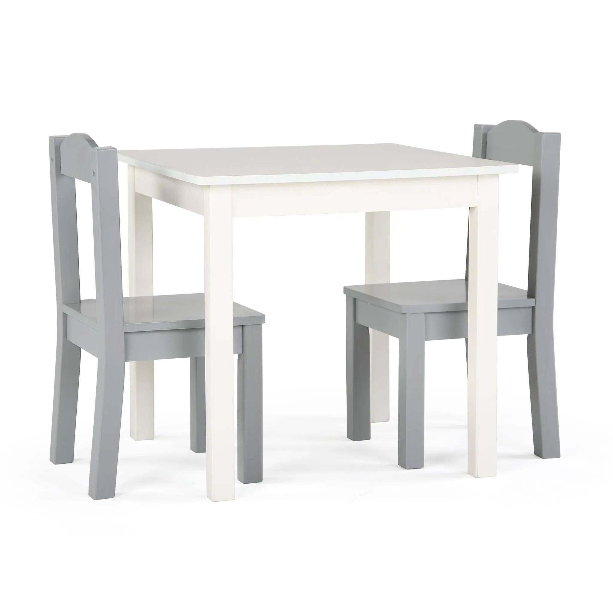 table et 2 chaises pour enfant blanc gris danawares clement