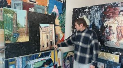 Clément Baeyens in his studio in Sète - Light and shadows explained
