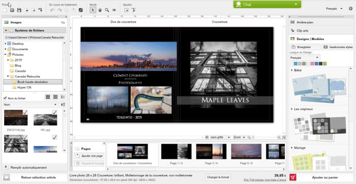 Création du livre photo Saal Digital