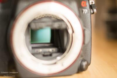 Le capteur de l'appareil photo