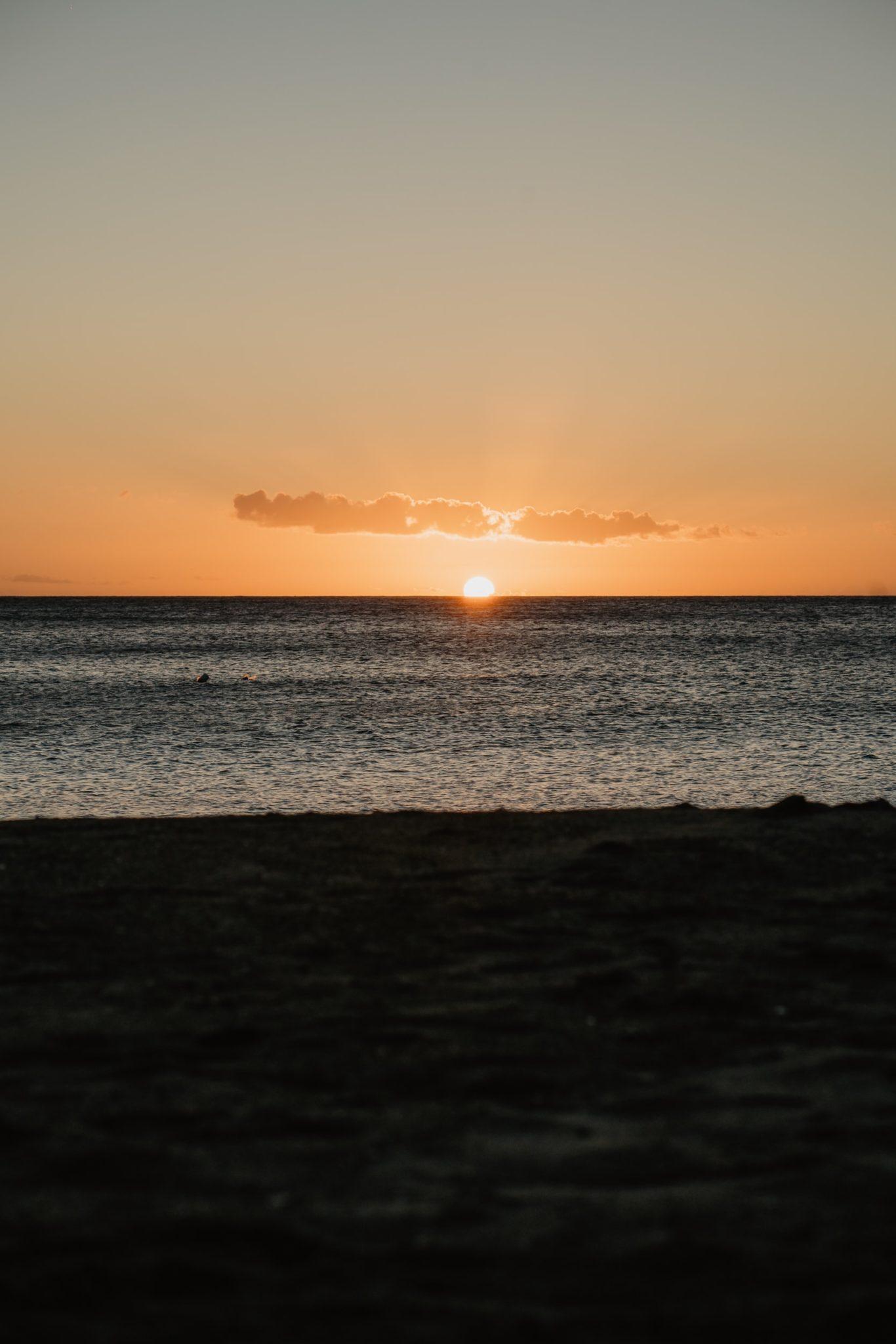 Coucher de soleil à Mero Beach, Dominique