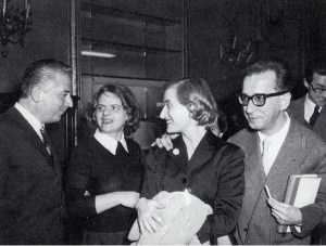 Cesare Brandi, Elsa Morante, Rosario Assunto e la moglie