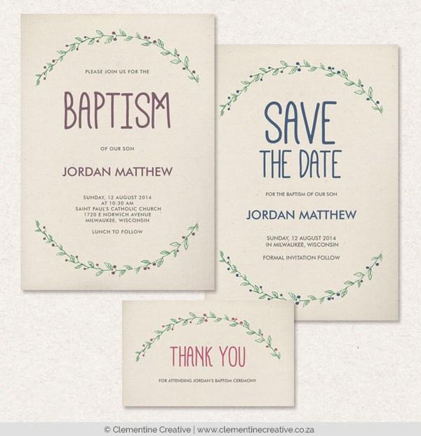 Print Baptism Invitations
