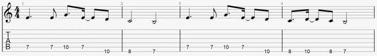 riff débutant facile guitare apprendre jouer cours tuto
