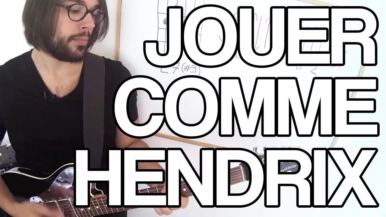 Jouer guitare hendrix jimi apprendre tuto cours astuce facile tablature tab partitions