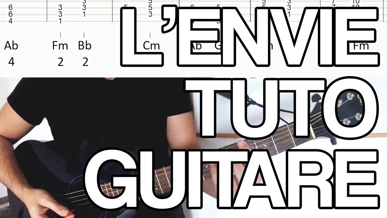 L'envie johnny hallyday kendji girac guitare tuto facile partition accords tablature apprendre à jouer tutoriel cours vidéo
