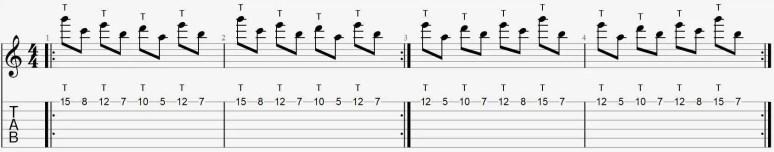 Exercice tapping facile une corde tuto débutant leçon cours guitare