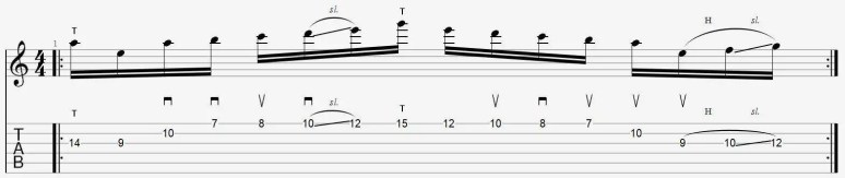 gamme plan tapping solo