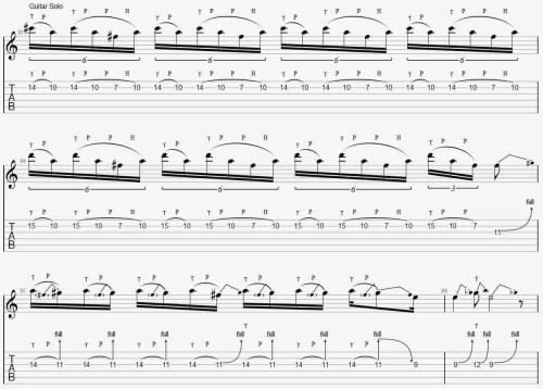 morceau tapping débutant crazy train solo tuto cours apprendre facile guitare