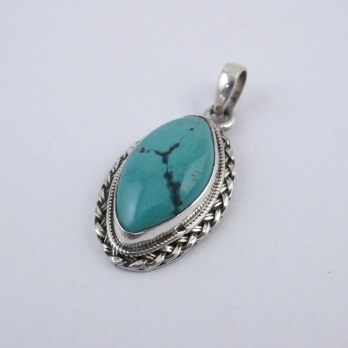Pendentif Turquoise Losange