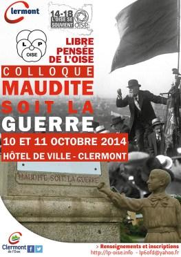 """Colloque """"Maudite soit la guerre"""", - Clermont (Oise)"""